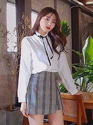 2018新款韩国服装icecream12品牌时尚百搭格子裙裤(2018.1月)