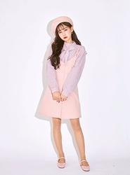 2018新款韩国服装icecream12品牌时尚纯色单排扣连衣裙(2018.1月)