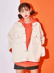 2018新款韩国服装icecream12品牌休闲舒适纯色单排扣夹克(2018.1月)