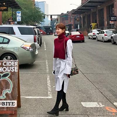 1区韩国本土服装代购(韩国圆通直发)Imvely-简约大方衬衫连衣裙(2018-05-09上架)