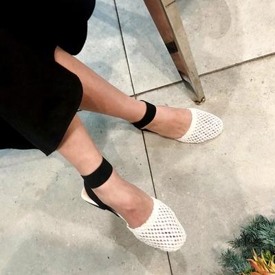 1区韩国本土服装代购(韩国圆通直发)Imvely-优雅风格韩版平底鞋(2018-07-09上架)