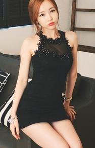 1区韩国服装网店代理一件代发jungmadam-JMOP00918887-性感透视蕾丝花纹刺绣连衣裙(制作商品)