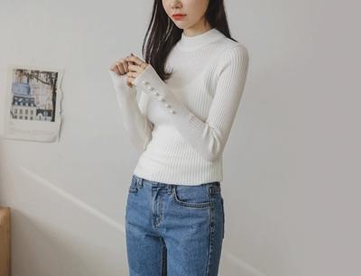 justone-简单韩版魅力时尚针织衫