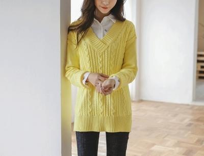 justone-简单韩版魅力时尚休闲针织衫