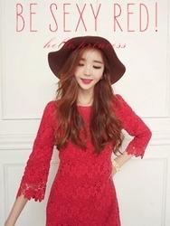 1区韩国代购正品验证kinkin-KKOP00761791-韩版淑女优雅高的流行连衣裙