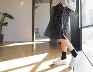 1区2017秋季新款|韩国发货|kokoShow品牌韩国韩版休闲秀气舒适中裙(2017.9月)