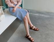 1区2017秋季新款|韩国发货|kokoShow品牌韩国时尚魅力开衩牛仔中裙(2017.9月)