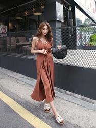 kongstyle-韩国复古韩国代购吊带纯色韩国女装代购网站连体裤女装2017年06月21日06月款