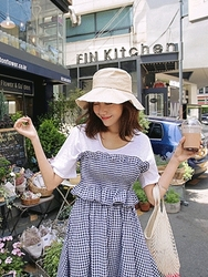 kongstyle-韩国基础纯色宽松韩国代购T恤女装2017年06月21日06月款
