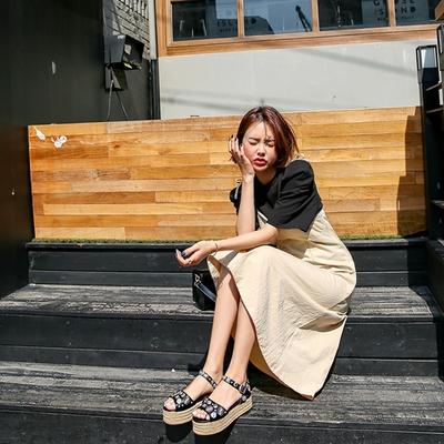 1区韩国本土服装代购(韩国圆通直发)kongstyle-在一起好幸福凉鞋(2018-04-24上架)