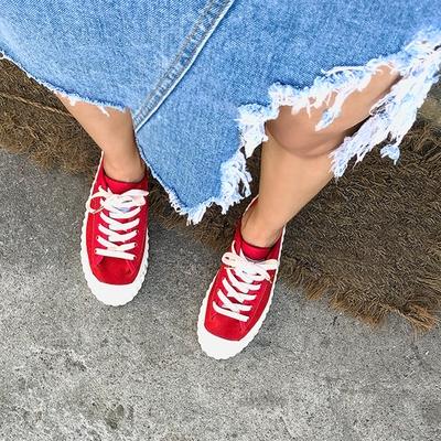 1区韩国本土服装代购(韩国圆通直发)kongstyle-韩版纯色舒适运动鞋(2018-06-25上架)
