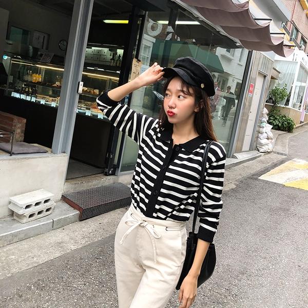 1区韩国本土服装代购(韩国圆通直发)kongstyle-开襟衫(2018-09-24上架)