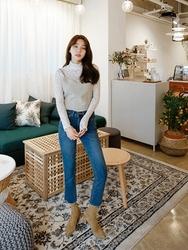 2018新款韩国服装kongstyle品牌时尚流行舒适牛仔裤(加绒)(2018.1月)