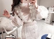 2018新款韩国服装marlangrouge品牌时尚魅力蕾丝衬衫(2018.1月)
