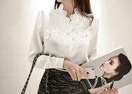 2018新款韩国服装marlangrouge品牌时尚流行蕾丝衬衫(2018.1月)