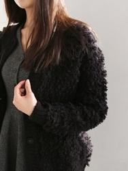 1区韩国代购正品验证mas-oeur-MECA00831353-新款魅力高档冬季保暖开襟衫