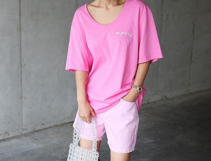 1区100%正宗韩国官网代购(韩国直发包国际运费)masion-de-nolita-T恤(2019-07-23上架)