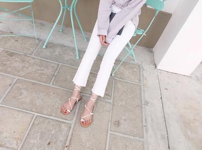 maybe-baby-韩版纯色个性流行长裤(制作商品)