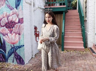 maybe-baby-花纹设计新款潮气连衣裙
