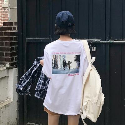 1区韩国本土服装代购(韩国圆通直发)merongshop-韩版时尚新款T恤(2018-04-16上架)