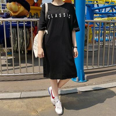 1区韩国本土服装代购(韩国圆通直发)merongshop-休闲宽松简约连衣裙(2018-04-20上架)