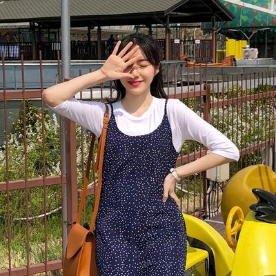 1区韩国本土服装代购(韩国圆通直发)merongshop-吊带新款圆点连衣裙(2018-04-20上架)