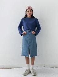 2018新款韩国服装michyeora品牌时尚帅气牛仔长裙(2018.1月)