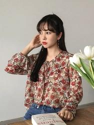 2018新款韩国服装michyeora品牌时尚流行花纹衬衫(2018.1月)