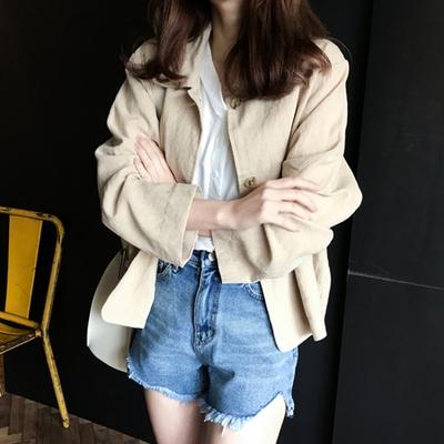 1区韩国本土服装代购(韩国圆通直发)mimididi-时尚休闲夹克(2018-04-20上架)