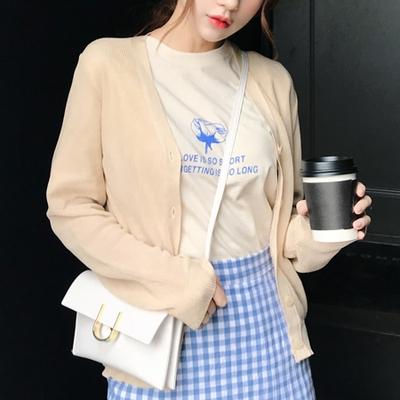 1区韩国本土服装代购(韩国圆通直发)mimididi-纯色魅力开襟衫(2018-04-20上架)