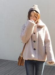 2018新款韩国服装mimididi品牌女士纯色个性舒适夹克(2018.1月)