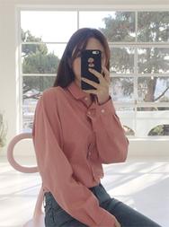 2018新款韩国服装mimididi品牌女士秀气纯色时尚衬衫(2018.1月)