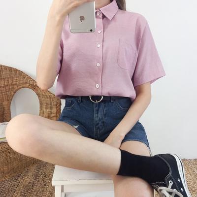1區100%正宗韓國官網代購(韓國直發包國際運費)mixxmix-襯衫(2019-08-06上架)