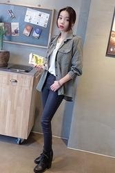 1区韩国代购正品验证mocobling-MMJK00756021-韩版魅力简单新款百搭夹克