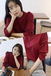 1区韩国代购正品验证mocobling-MMKN00756027-深色简单舒适休闲针织衫