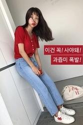 mocobling-韩国魅力十足纯色韩国服装代购开襟衫女装2017年07月26日夏季款