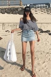 mocobling-韩国搭配魅力性感牛仔韩国正品女装代购网裙裤女装2017年07月26日夏季款