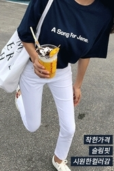 mocobling-韩国基础纯色直筒韩国代购长裤女装2017年07月28日夏季款