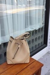 mocobling-韩国复古抽带水桶韩国代购正品手提包女装2017年07月31日夏季款