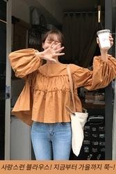 mocobling-韩国清新纯色康康韩国代购正品衬衫女装2017年08月02日08月款