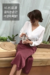 mocobling-韩国时尚修身长袖韩国代购正品衬衫女装2017年08月07日08月款