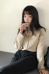 mocobling-韩国时尚宽松日常韩国代购正品衬衫女装2017年08月07日08月款