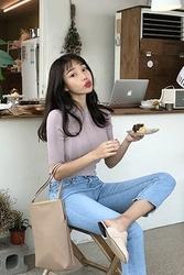 mocobling-韩国时尚夏季修身韩国代购毛衣针织衫女装2017年08月07日08月款