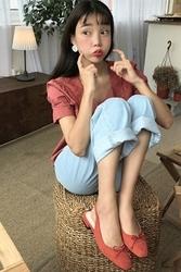 mocobling-韩国时尚可爱短袖韩国代购正品衬衫女装2017年08月07日08月款
