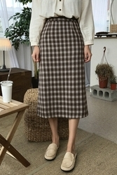 mocobling-韩国时尚日常格纹韩国代购长裙女装2017年08月07日08月款