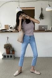 mocobling-韩国时尚流行修身韩国代购牛仔裤女装2017年08月07日08月款