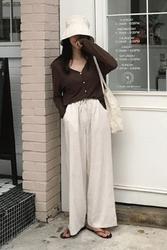 mocobling-韩国时尚夏季宽松韩国代购长裤女装2017年08月09日08月款