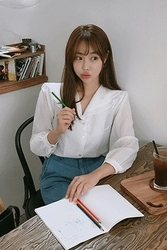 mocobling-韩国时尚舒适长袖韩国代购正品衬衫女装2017年08月09日08月款