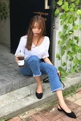 mocobling-韩国时尚宽松修身韩国代购牛仔裤女装2017年08月09日08月款