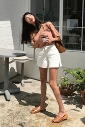 mocobling-韩国时尚开衩魅力韩国代购短裤女装2017年08月09日08月款